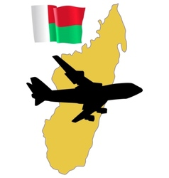 Fly me to the madagascar vector
