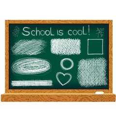 Blackboard with line drawings vector
