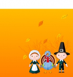 pilgrims background vector image
