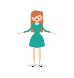 Abstract cute Woman vector image