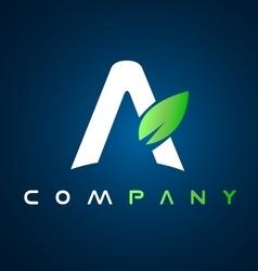 Alphabet letter a leaf logo icon design vector image vector image