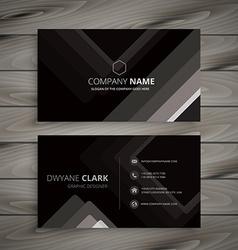 Black dark stripes business card vector