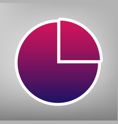 Business graph sign purple gradient icon vector