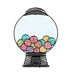 Candy vending machine icon image vector