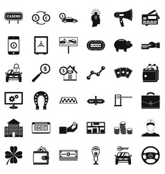 Coin icons set simple style vector