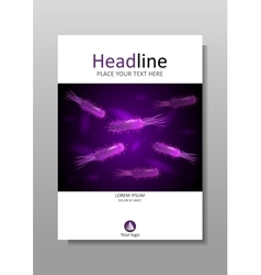 Cover design with purple bacteria with vector