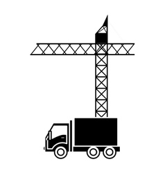 Crane machine icon vector