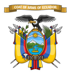 ecuadorian coat of arms vector image