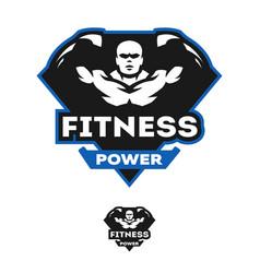 Energy fitness sports logo vector
