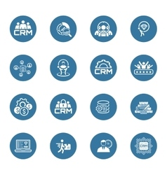 Flat Design Business Icons Set vector image vector image