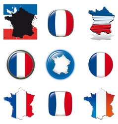 france icons vector image vector image