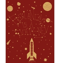 freelancing is a space trip vector image vector image