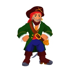 Funny cartoon pirate vector