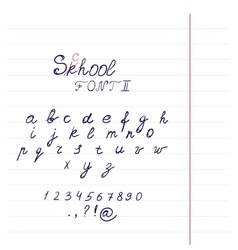 Hand drawn font in format vector image vector image