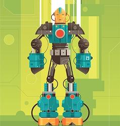 Hi tech futuristic robot vector