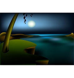 Hight ocean landscape vector