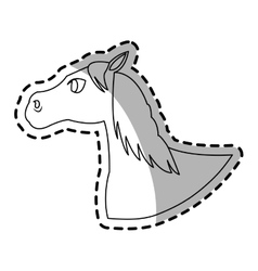 horse animal icon vector image