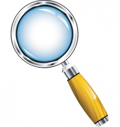 magnifying icon vector image vector image