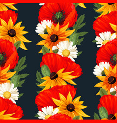 Meadow flowers seamless vector