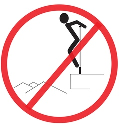Not strong do not clamber not allowed sign vector