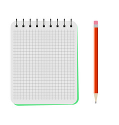 Notebook with a red pencil vector