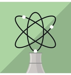 nuclear plant design industry and factory concept vector image
