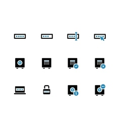 Password duotone icons on white background vector image vector image