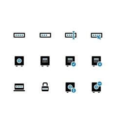 Password duotone icons on white background vector