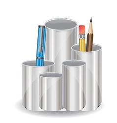 Pencil holder vector image