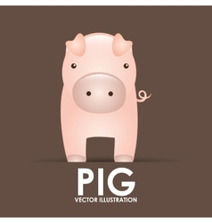 pig design vector image
