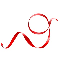 red ribbon in the shape of nines vector image vector image