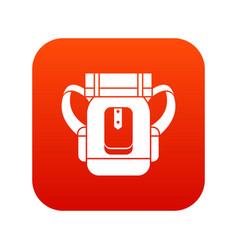 Sleeping bag icon digital red vector