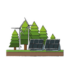 solar panels design vector image vector image