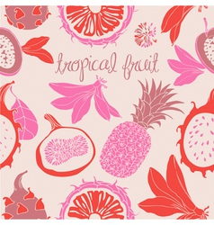 Tropical Fruit Pattern vector image vector image