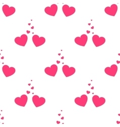Valentines loving hearts seamless pattern vector