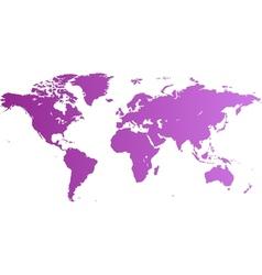 World map violet vector