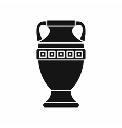 Ancient jug icon simple style vector
