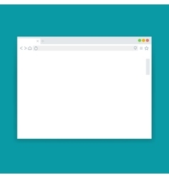 Browser window blank web page template vector image