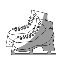 Isolates ice skate design vector