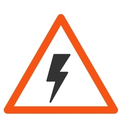 Electricity shock warning flat icon vector