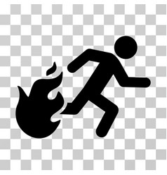 Fired running man icon vector