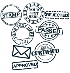 Set of stamps vector