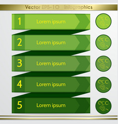 Modern eco green list infographics elements vector