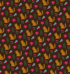 Chipmunk pattern vector