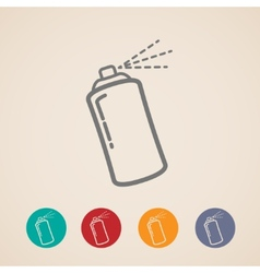 Set of aerosol spray can icons vector