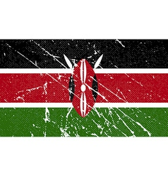 Flag of kenya with old texture vector