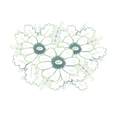 Abstract seamless pattern with green flowers vector image