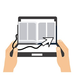 Electronic book vector