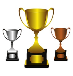 Trophies set vector