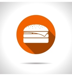 Burger icon eps10 vector